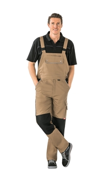 2135 Canvas 320 Overalls - Khaki/sort