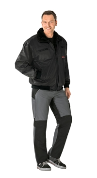 0334 Gletscher Pilot Jakke Sort