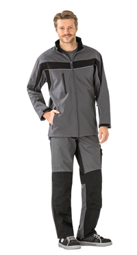 2706 Softshell jakke,skiffer/sort
