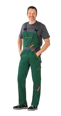 2432, Visline Overalls grøn / orange / skifer