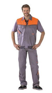 2460 Visline Vest Zink/Orange/Skiffer