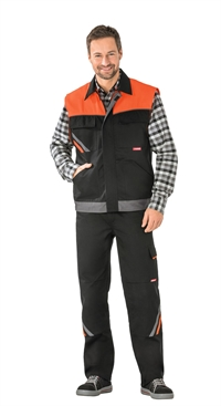 2461 Visline Vest, Sort/Orange/Skiffer