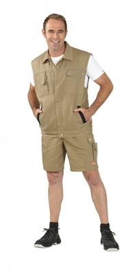 2165 Canvas 320 Arbejdsvest - Khaki/sort