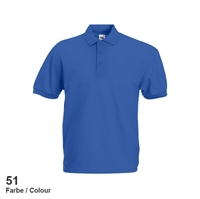 634020-51 Fruit of the loom 65/35 Pique Polo