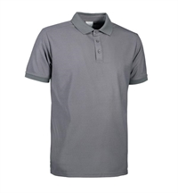 G21006 Man functional polo shirt sølvgrå