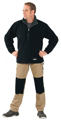 0346 Streem Fleece Jakke Sort/antrasit