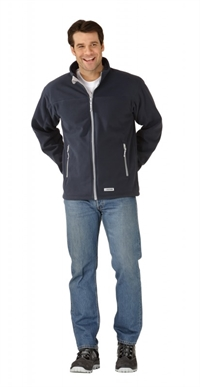 3447 Retro Fleece Jakke Marine